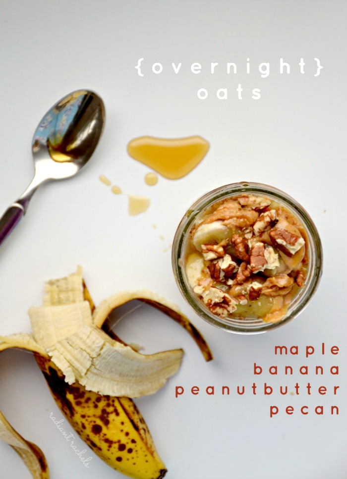 maple pecan peanut butter banana overnight oats small