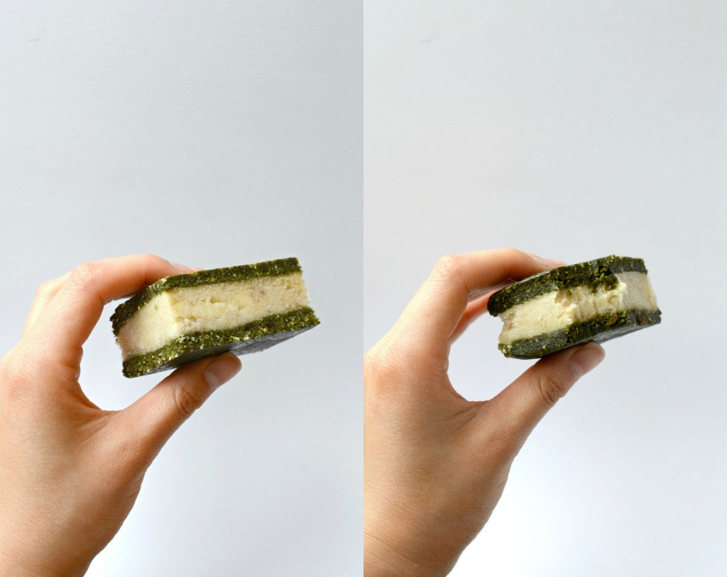 Matcha Ice Cream Sandwiches Collage