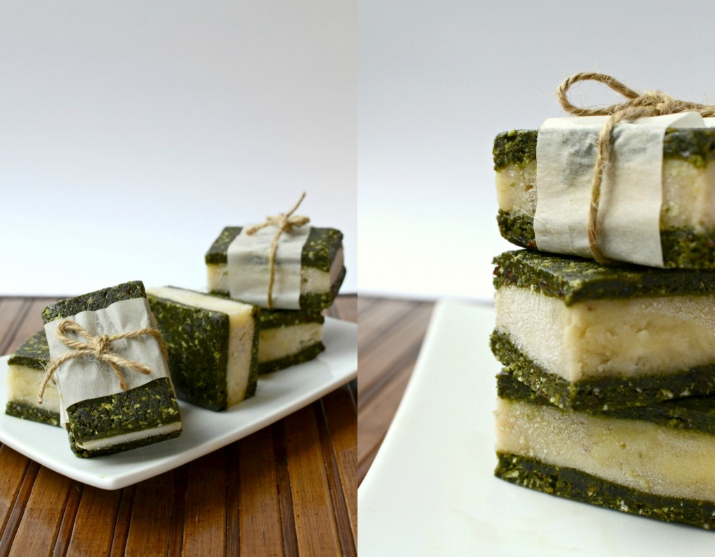 Matcha Ice Cream Sandwiches Collage 2