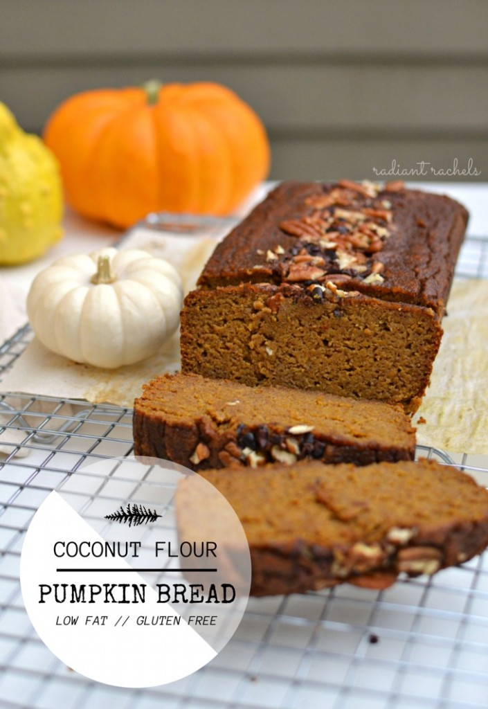 Coconut Flour Pumpkin Bread - title