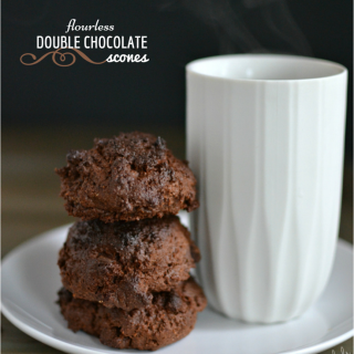 Flourless Double Chocolate Scones