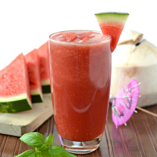 3 Ingredient Ultra-hydrating Watermelon Basil Smoothie