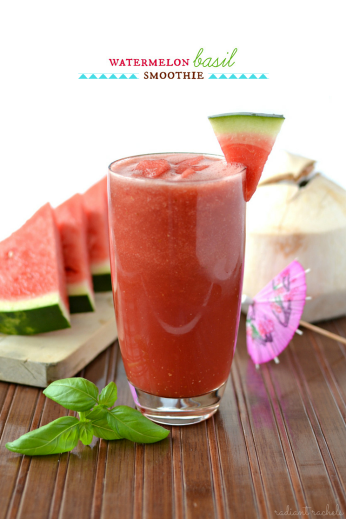Watermelon Basil Smoothie - title