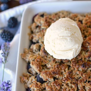 Gluten Free Vegan Blueberry & Blackberry Lavender Crisp