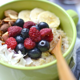 Creamy Coconut & Berries Oatmeal 2 Ways
