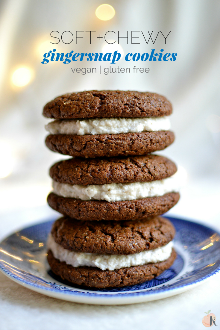 The Perfect Soft & Chewy Vegan Gingersnaps - Radiant Rachels