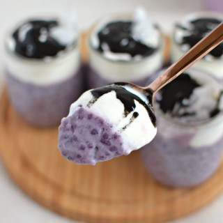 Vegan Purple Sweet Potato Tapioca Pudding