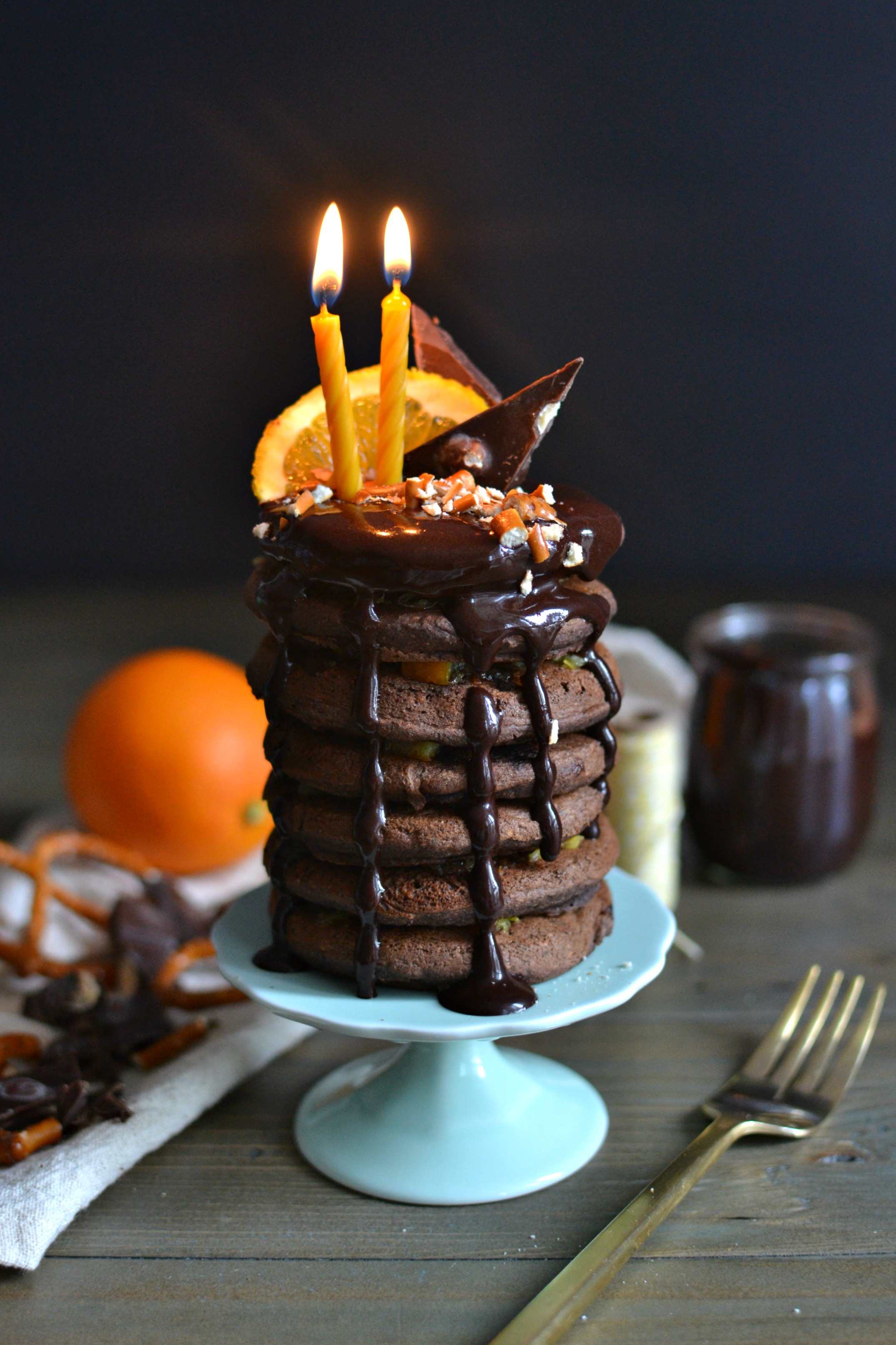 Orange Chocolate Pancakes 1