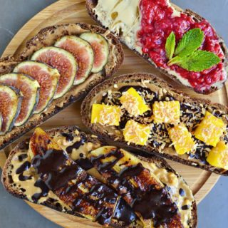 4 Nut Butter & Fruit Toasts