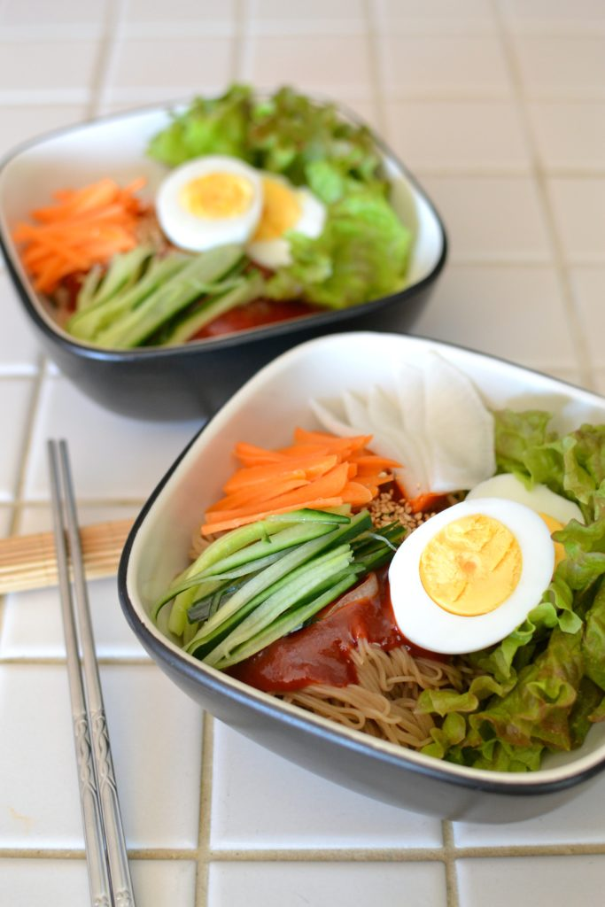 Korean Spicy Cold Noodles (Bibim Naengmyeon) - Radiant Rachels