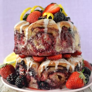 Vegan Bumbleberry Bun Cake | Our 3rd Blogiversary!