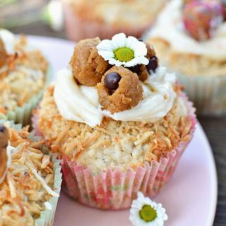 "Easter Coconut Muffins ft. Cookie Dough ""Eggs"""