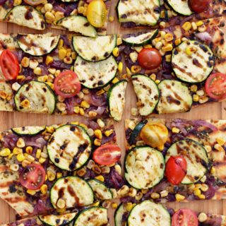 Summer Veggie Vegan Grilled Pizza