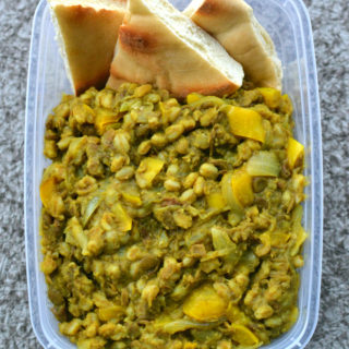 Golden Lentil Curry with Pita Bread
