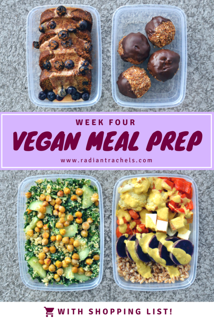 vegan meal prep with shopping list