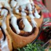 The Fluffiest Vegan Gingerbread Cinnamon Buns