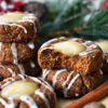 Gingerbread Thumbprint Cookies with Lemon Curd
