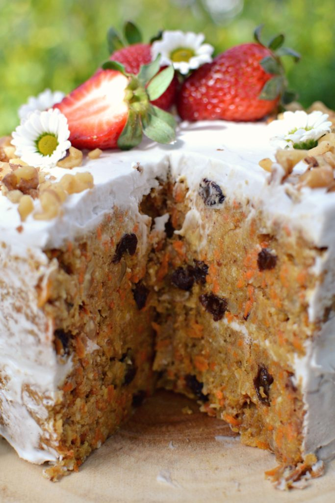 This Vegan Carrot Cake Isn T Quite Like Your Traditional Cakes Think Of It More The Fruitcake That Makes Its Appearance Around Christmastime Dense