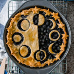 vegan blueberry pie moon stars crust design
