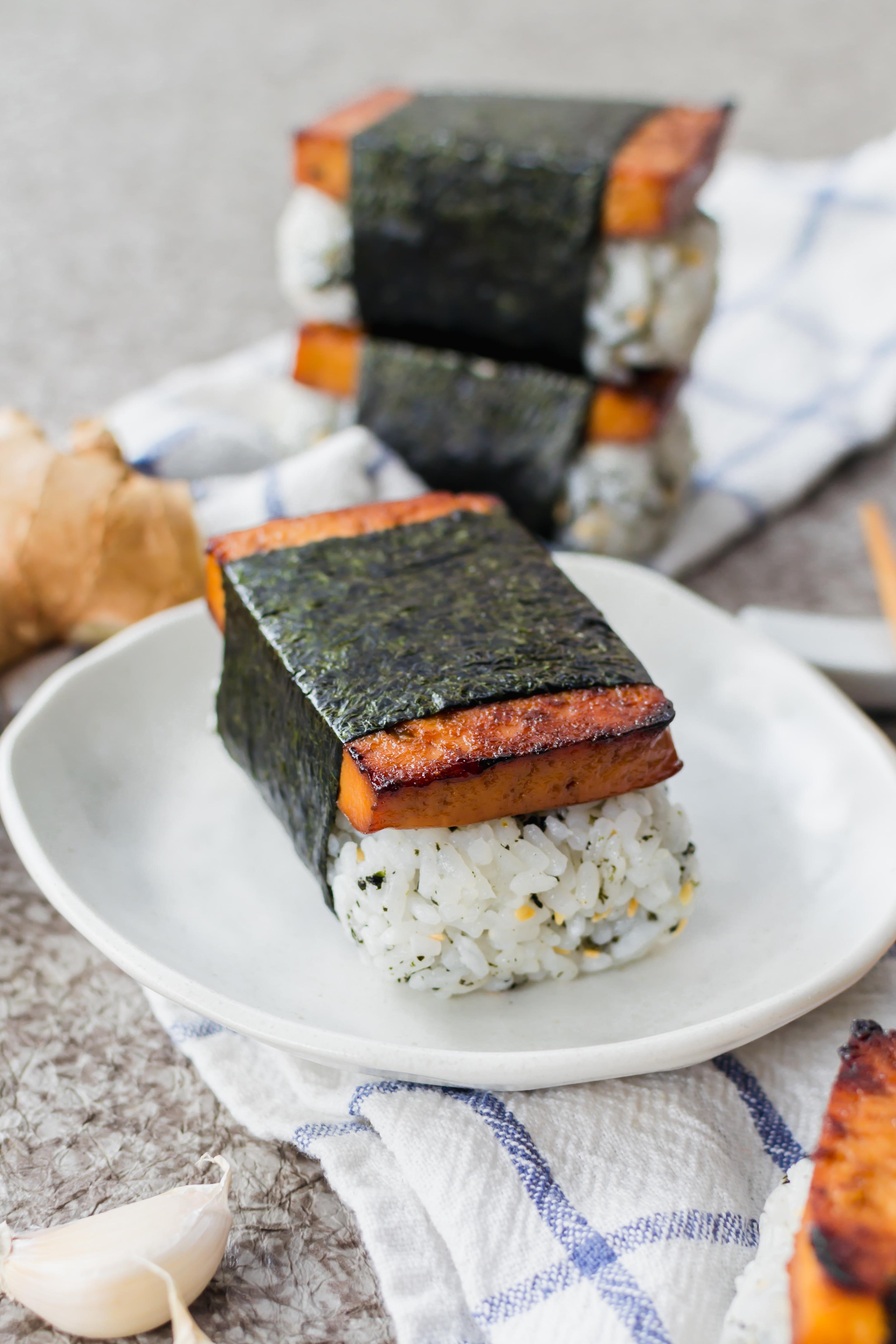 vegan tofu musubi