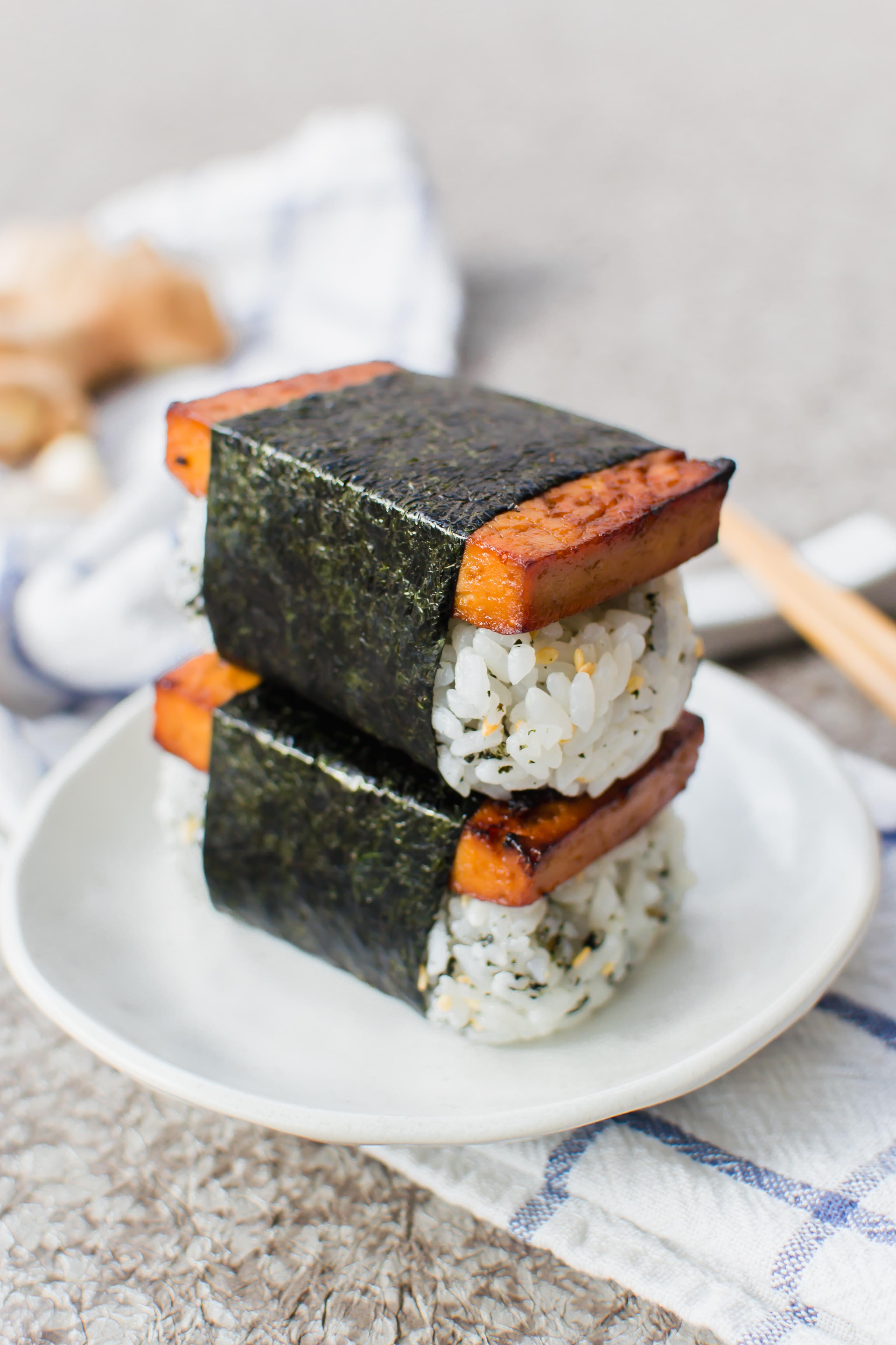 Teriyaki Tofu Musubi Radiant Rachels